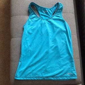 ASICS blue work out top